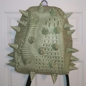 MadPax green gator backpack with spikes